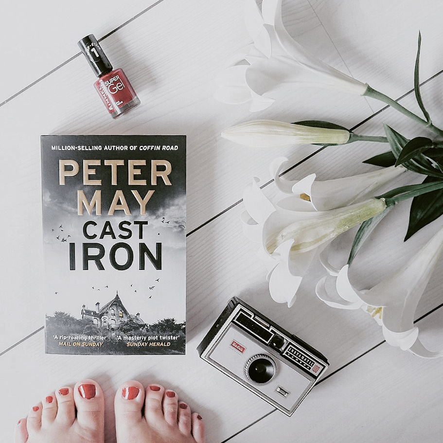 Blog post photo showing a copy of Cast Iron by Peter May
