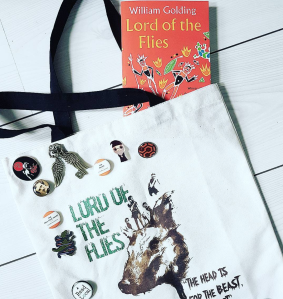 Lord of the Flies book and tote bag