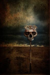 skeleton road sign
